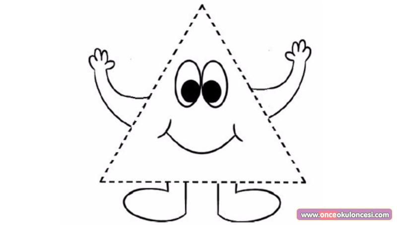 Kare Daire üçgen Boyama Sayfaları