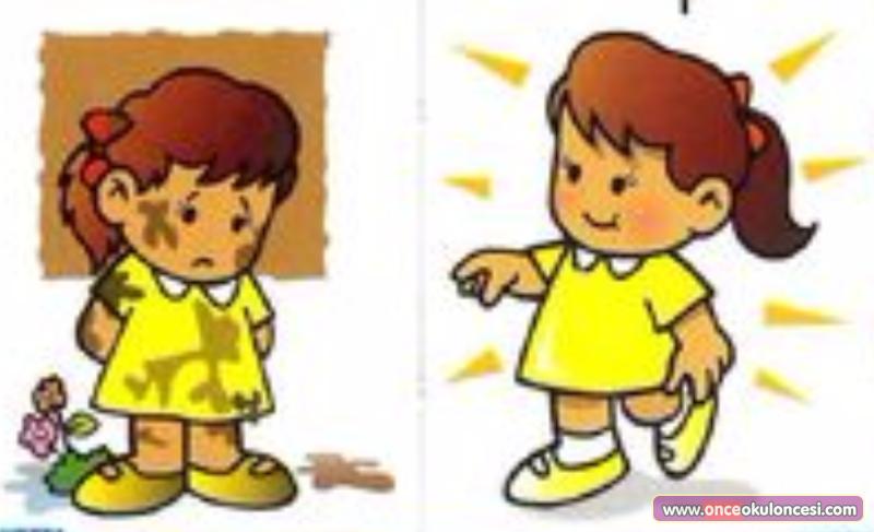 Картинка грязный и чистый ребенок