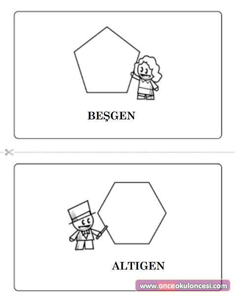 Geometrik şekiller Etkinlikleri Sayfa 2