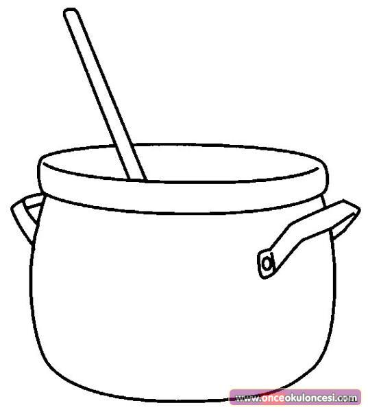 Mutfak Araç Gereçleri Boyama Sayfası 4