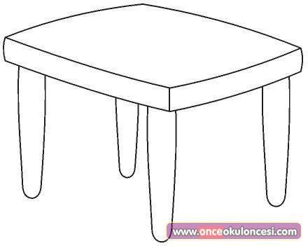 Masa Sandalye Boyama Sayfaları