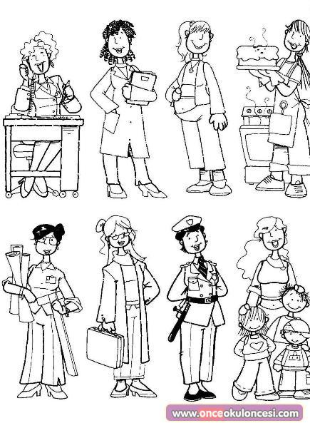 Dünya Kadınlar Günü Boyama Sayfası