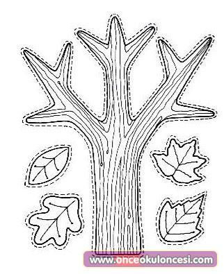 Sonbahar Ağacı Boyama Sayfası Gauranialmightywindinfo