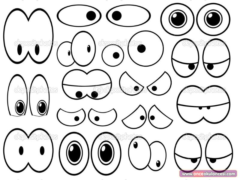 E inlikler Icin Goz Kaliplari 92602 on scary eyes clip art free