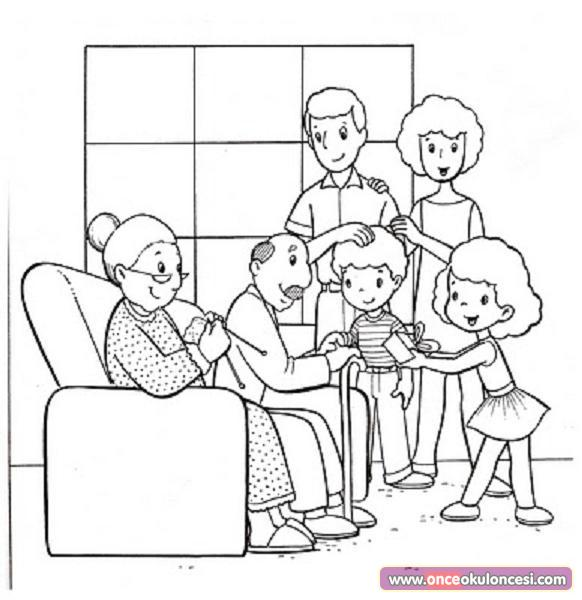 Yaşlılar Haftası Için Boyama Sayfaları