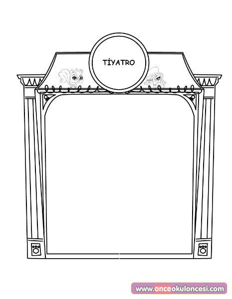 Tiyatro Sahnesi Boyama Sayfaları