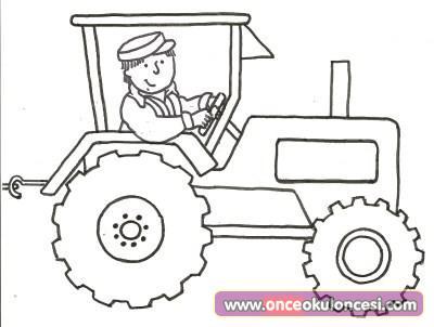Traktör Boyama Sayfası