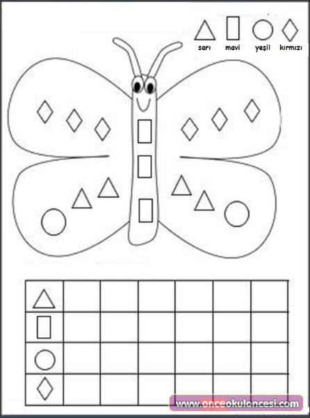 Geometrik şekiller Etkinlikleri Sayfa 4