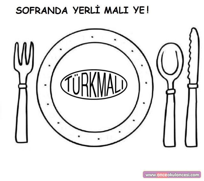Türk Malı Kullanalım Boyama Sayfaları