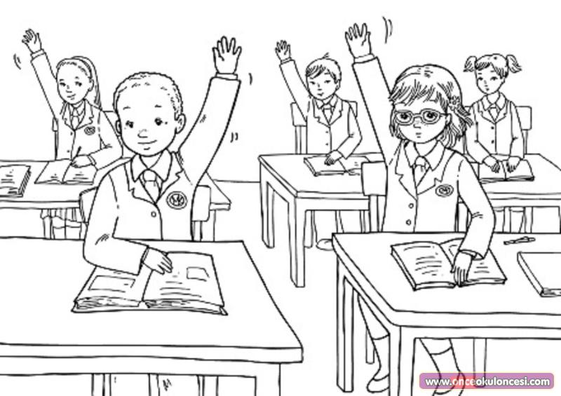 classroom coloring pages - photo#20