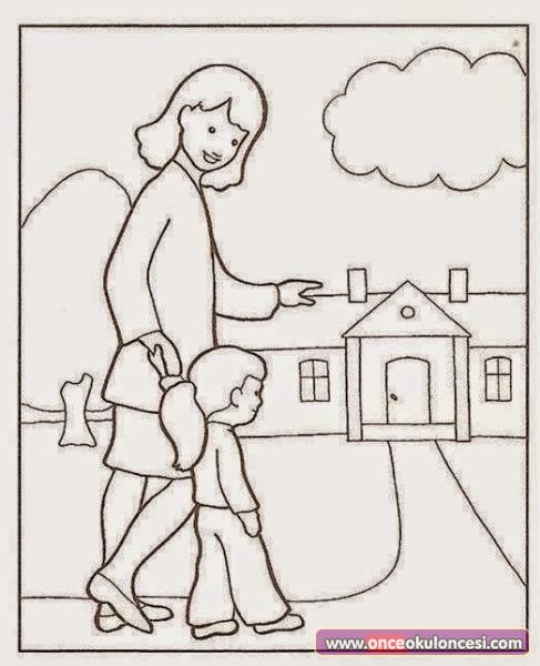 Okul Etkinlikleri Boyama Sayfaları