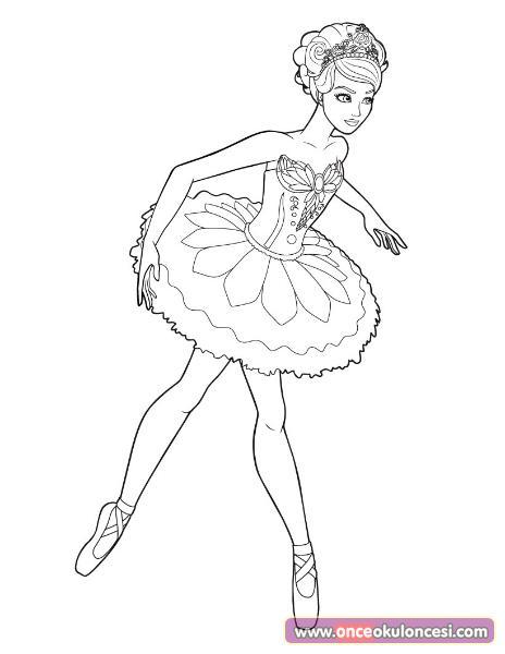 Balerin boyama sayfası