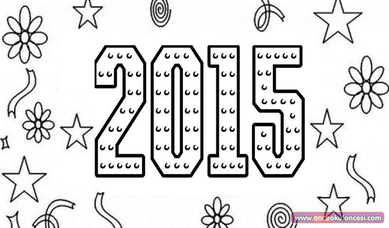 Yeni Yıl Boyama Sayfası