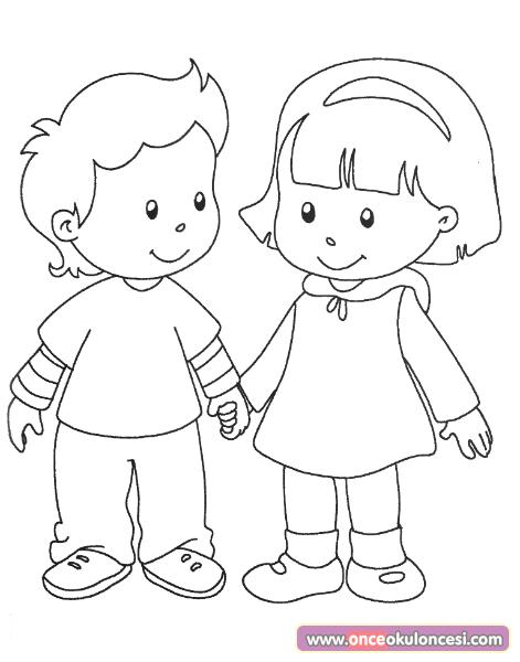 Arkadaşlık boyama sayfası