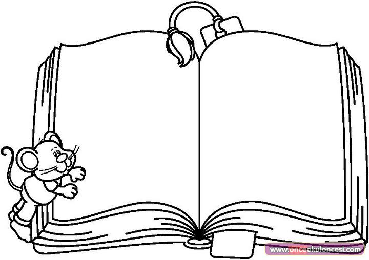 printable open book coloring pages - photo#23
