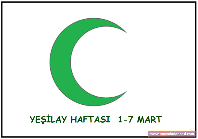 Yesilay Bayragi Boyama Sayfasi