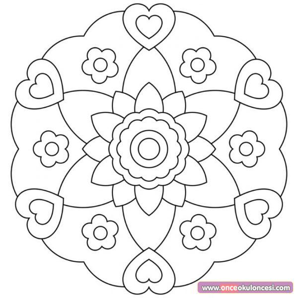 Mandala Boyama çalışmamız