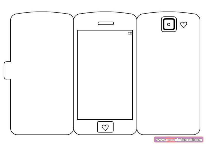 Son Model Cep Telefonu Boyama Kalıbı