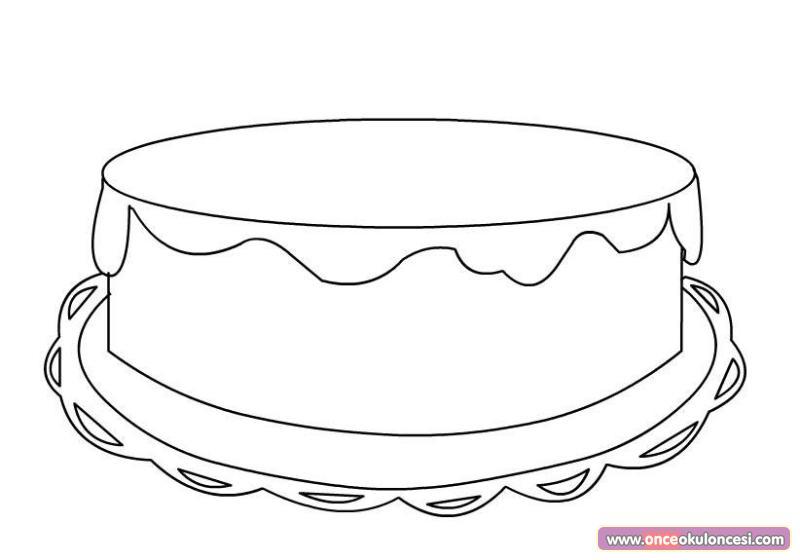 Süslü Doğum Günü Pastası Kalıbı