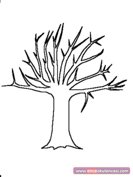 Boya Kes Yapıştır Ilkbahar Ağacı Yap