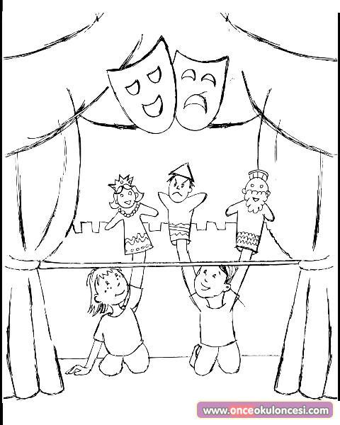 Kukla Tiyatrosu Boyama Sayfası