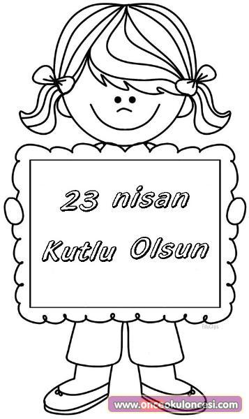 23 Nisan Icin Boyama Sayfalari