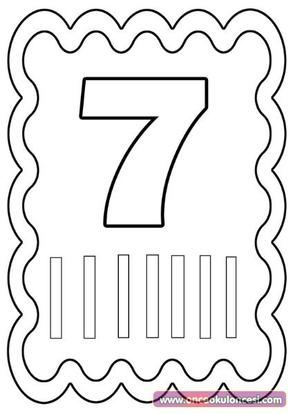 7 Rakami Matematik Okul Oncesi Okul