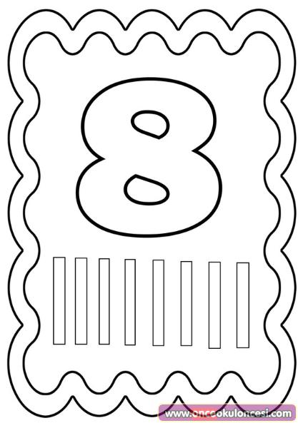 Rakamlar Boyama Sayfalari 1 10