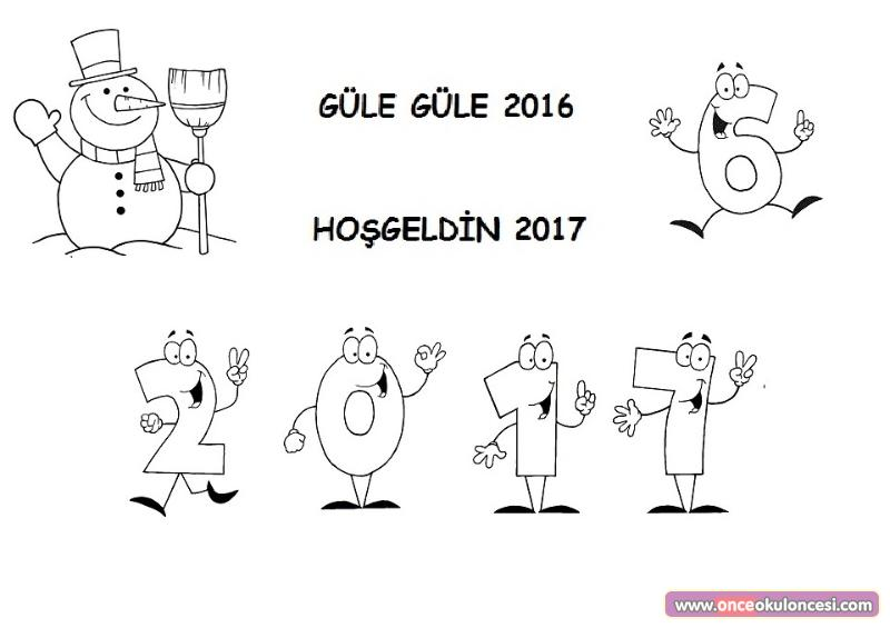 Gule Gule 2016 Hosgeldin 2017 Boyama