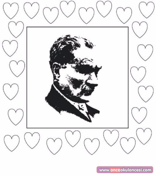 Atatürk Ve 10 Kasımla Ilgili Boyama çerçeve Ve çelenkler