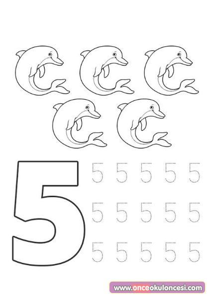 5 Rakami Calisma Sayfalari