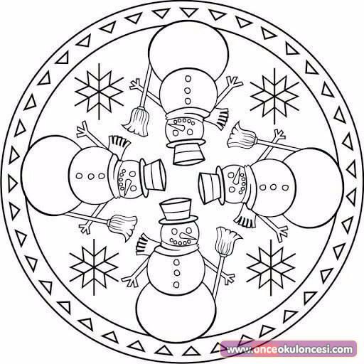 Yeni Yıl Mandala Boyama Sayfaları