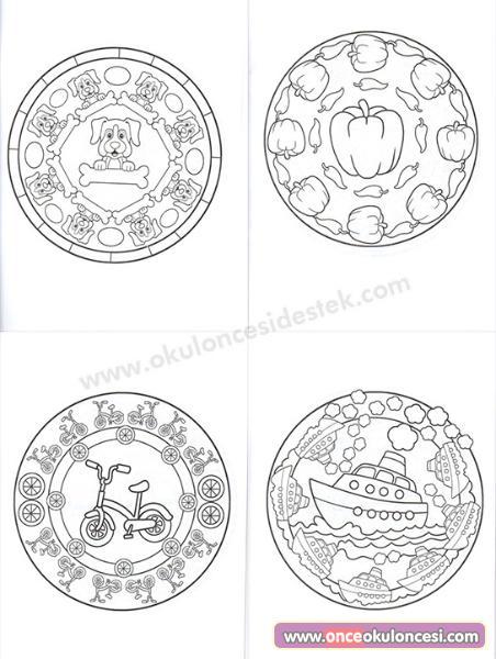 3 6 Yaş Temalı Mandala Seti Boyama Mandala Kitapları Okul Destek