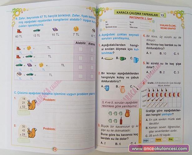 Matematik 2 Sinif Calisma Yapraklari 2 Sinif Kitaplari Okul Destek