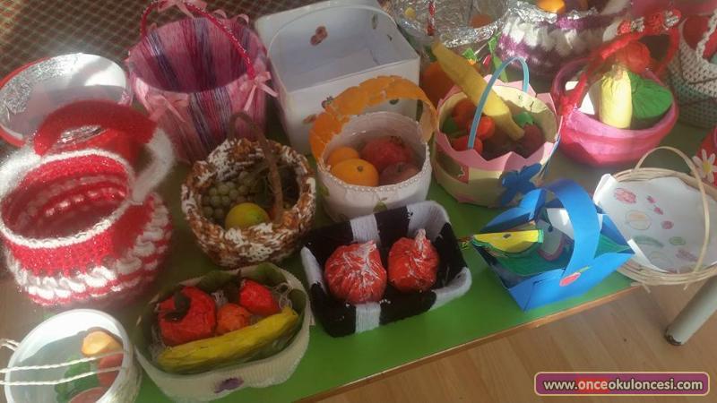 Aile Katılımı Meyve Sepeti Yapımı Yerli Malı Haftası